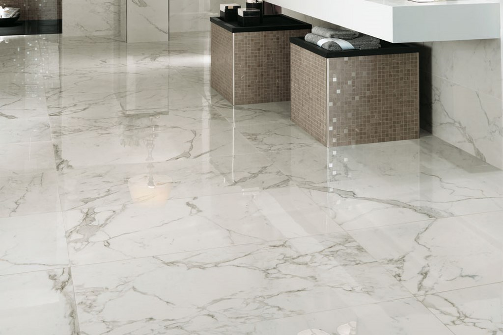 Marvel calacatta marble tile uptiles strathpine for Carrelage 60x120