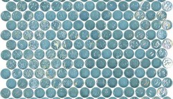 Geo Glass Circle 20 Blue Mosaic Tile