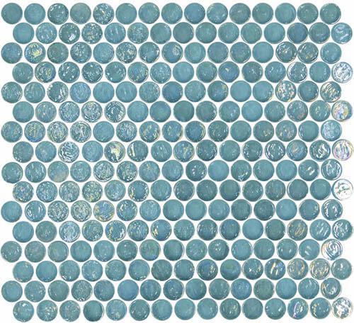 Geo Glass Circle 20 Blue Mosaic Tile