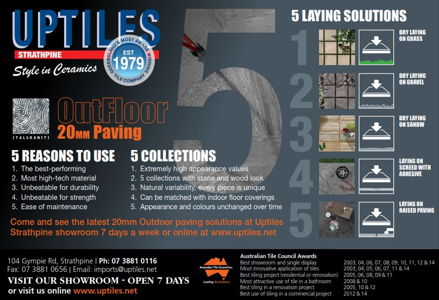 Outfloor 20mm Paving The Latest And Greatest In Paving