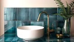 Colored wall tiles